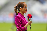 A K+ presenter during the Premier League match between West Ham United and Manchester City at the London Stadium, London, England on 10 August 2019. Photo by David Horn.