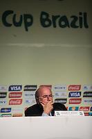 SAO PAULO, SP, 30 DE NOVEMBRO 2012 - COLETIVA FIFA - Joseph Blatter presidente da FIFA  durante coletiva com imprensa sexta-feira no Parque Anhembi regiao norte da capital paulista. FOTO: VANESSA CARVALHO - BRAZIL PHOTO PRESS.