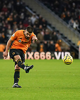 Wolverhampton Wanderers' Ruben Neves shoots for goal but it goes over the bar<br /> Photographer Lee Parker/CameraSport<br /> <br /> The Premier League - Wolverhampton Wanderers v Newcastle United - Saturday 11th January 2020 - Molineux - Wolverhampton<br /> <br /> World Copyright © 2020 CameraSport. All rights reserved. 43 Linden Ave. Countesthorpe. Leicester. England. LE8 5PG - Tel: +44 (0) 116 277 4147 - admin@camerasport.com - www.camerasport.com