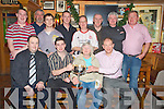 Pictured at the finals of the Mike Landers Cup darts finals in Murphys Bar, Killarney on Tuesday night were Denis Brosnan, Setanta Landers, Mary Carmel O'Connor, Sean Murphy, Cian Buckley, Phil Standing, James Doherty, John Herlihy, Diarmuid Buckley, John Curtin, James Lyne and John Teahan.