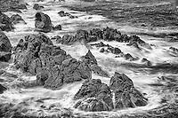 Surf and rock, California coast