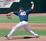 Reno Aces starter Bryan Henry throws against the Sacramento River Cats during their game played on Tuesday afternoon, July 31, 2012 in Reno, Nevada.
