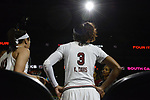 DALLAS, TX - APRIL 2: Kaela Davis #3 of the South Carolina Gamecocks walks onto the court before South Carolina takes on Mississippi State during the 2017 Women's Final Four at American Airlines Center on April 2, 2017 in Dallas, Texas. (Photo by Evert Nelson/NCAA Photos via Getty Images)
