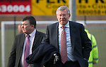 St Johnstone v Aberdeen.....07.12.13    SPFL<br /> Sir Alex Ferguson arrives at McDiarmid Park to watch today's game. He was invited by St Johnstone FC to mark the 50th anniversary of a famous game in the club's history when a young 'Fergie' scored hat-trick against Rangers at Ibrox on the 21st December 1963. Saints winning the game 3-2<br /> Picture by Graeme Hart.<br /> Copyright Perthshire Picture Agency<br /> Tel: 01738 623350  Mobile: 07990 594431