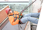 Michelle Mooney who abseiled off the roof of the D Hotel to raise money for Drogheda Animal Rescue...Picture Jenny Matthews/Newsfile.ie