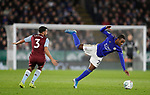 Neil Taylor of Aston Villa catches Ricardo Pereira of Leicester City during the Carabao Cup match at the King Power Stadium, Leicester. Picture date: 8th January 2020. Picture credit should read: Darren Staples/Sportimage