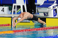 Wales' Marco Loughran wins the men's 50m backstroke semi-final<br /> <br /> Photographer Chris Vaughan/CameraSport<br /> <br /> 20th Commonwealth Games - Day 3 - Saturday 26th July 2014 - Swimming - Tollcross International Swimming Centre - Glasgow - UK<br /> <br /> © CameraSport - 43 Linden Ave. Countesthorpe. Leicester. England. LE8 5PG - Tel: +44 (0) 116 277 4147 - admin@camerasport.com - www.camerasport.com