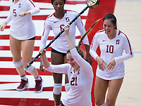 STANFORD, CA - November 4, 2018: Sidney Wilson at Maples Pavilion. No. 2 Stanford Cardinal defeated the Utah Utes 3-0.