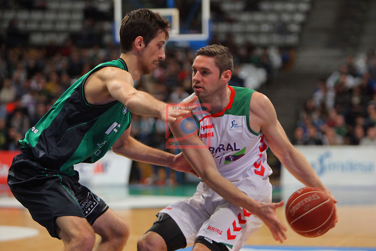 League ACB-Endesa 2015-2016. Game: 16.<br /> FIATC Joventut vs Laboral Kutxa Baskonia: 68-89.<br /> Nogues vs Causeur.