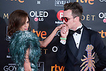 Macarena Gomez and and Aldo Comas attends red carpet of Goya Cinema Awards 2018 at Madrid Marriott Auditorium in Madrid , Spain. February 03, 2018. (ALTERPHOTOS/Borja B.Hojas)