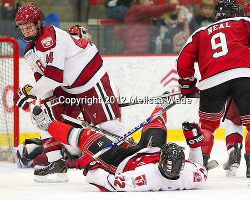 Max Everson (Harvard - 44), CJ Lee (RPI - 22), Matt Neal (RPI - 9) - The Harvard University Crimson defeated the visiting Rensselaer Polytechnic Institute Engineers 4-0 (EN) on Saturday, November 10, 2012, at Bright Hockey Center in Boston, Massachusetts.