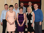 Original club members Barney Flannery, Gerry O'Connor, Robbie Maher, Shane Mulroy, Joe Coyle, Mary Lynn, Nuala Reilly and Mary MaAuley pictured at the Drogheda Athletic Club annual dinner in the Westcourt Hotel. Photo:Colin Bell/pressphotos.ie