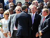 United States President Barack Obama welcomes the Super Bowl Champion New York Giants to the White House in Washington, D.C. on Friday, June 8, 2012..Credit: Ron Sachs / CNP.(RESTRICTION: NO New York or New Jersey Newspapers or newspapers within a 75 mile radius of New York City)