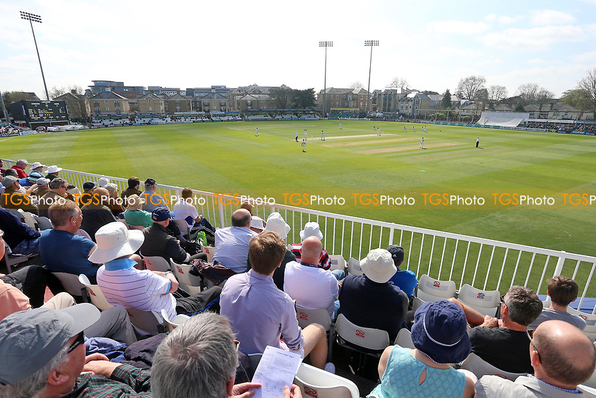 A bumper crowd looks on during Essex CCC vs Lancashire CCC, Specsavers County Championship Division 1 Cricket at The Cloudfm County Ground on 7th April 2017