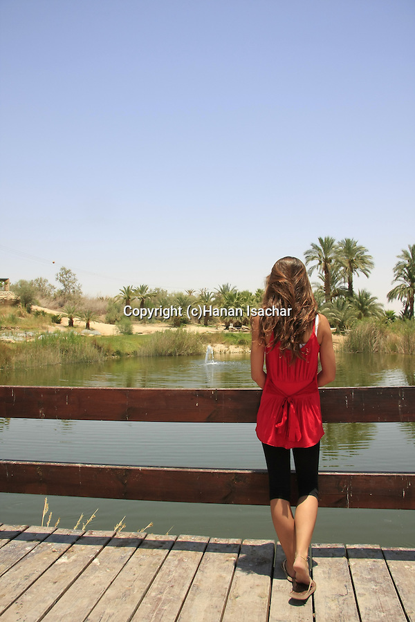 Israel, Park Sapir, an oasis in the Arava
