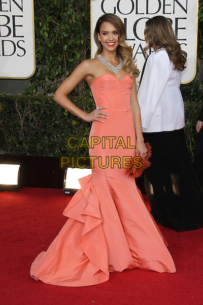 BEVERLY HILLS, CA - JANUARY 13: Jessica Alba at the 70th Annual Golden Globe Awards at the Beverly Hills Hilton Hotel in Beverly Hills, California. January 13, 2013. <br /> CAP/MPI29<br /> &copy;MPI29/Capital Pictures