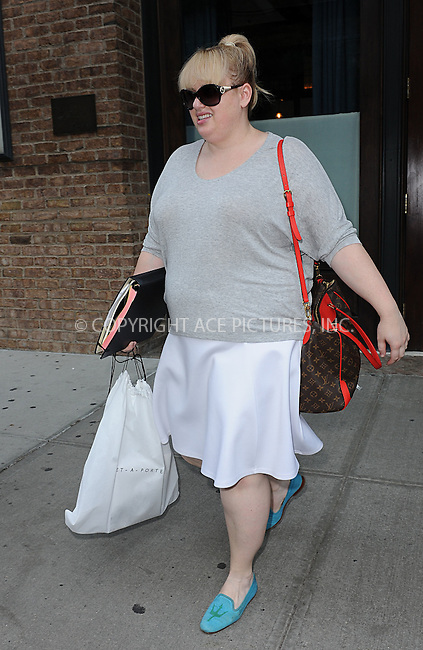 WWW.ACEPIXS.COM<br /> June 10, 2015 New York City<br /> <br /> Rebel Wilson seen walking in TriBeCa New York City on June 10, 2015.<br /> <br /> By Line: Kristin Callahan/ACE Pictures<br /> <br /> tel: 646 769 0430<br /> Email: info@acepixs.com<br /> www.acepixs.com