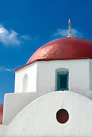Some chapels on the Greek island of Mykonos are very old and have been designated as historical monuments by the Ministry of Culture, but the majority of them have been built during the last two centuries.