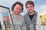 FIRST: Artists Maurice Hannon, Listowel, and Damien O'Connell, Ballinskelligs, who are the first artists to feature at the new Lartigue museum building in Listowel, as they opened their exhibition on Thursday last.   Copyright Kerry's Eye 2008