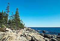 Coastal landscape, Acadia National Park, Mount Desert Island, Maine, ME, USA
