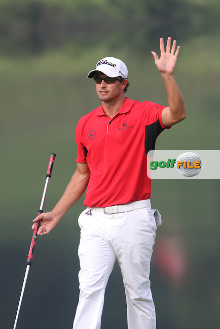 Adam Scott (AUS) after sinking a putt on the 15th on Day 3 of the 2012 HSBC Champions, Mission Hills Golf Club, Shenzhen, China. 3/11/12..(Photo www.golffile.ie)