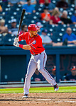 28 February 2017: Washington Nationals infielder Neftali Soto in action during the Spring Training inaugural game against the Houston Astros at the Ballpark of the Palm Beaches in West Palm Beach, Florida. The Nationals defeated the Astros 4-3 in Grapefruit League play. Mandatory Credit: Ed Wolfstein Photo *** RAW (NEF) Image File Available ***