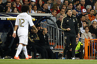 24.03.2012 SPAIN -  La Liga matchday 30th  match played between Real Madrid CF vs Real Sociedad (5-1) at Santiago Bernabeu stadium. The picture show Aitor Karanka second coach of Real Madrid CF