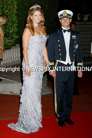 "MONACO ROYAL WEDDING.Princess Madeleine and Prince Carl Phillip..Guests Arrive at the  wedding dinner for H.S.H Prince Albert II and Miss Charlene Wittstock in Les Terrasses de l'opera Garnier._ Monaco 01/07/2011..Mandatory Photo Credit: ©Newspix International..**ALL FEES PAYABLE TO: ""NEWSPIX INTERNATIONAL""**..PHOTO CREDIT MANDATORY!!: NEWSPIX INTERNATIONAL(Failure to credit will incur a surcharge of 100% of reproduction fees)..IMMEDIATE CONFIRMATION OF USAGE REQUIRED:.Newspix International, 31 Chinnery Hill, Bishop's Stortford, ENGLAND CM23 3PS.Tel:+441279 324672  ; Fax: +441279656877.Mobile:  0777568 1153.e-mail: info@newspixinternational.co.uk"