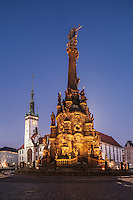 Holy Trinity Column, A UNESCO world heritage listed Baroque statue, Olomouc, Czech Republic