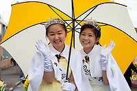 Asian Princesses, Sumner Daffodil Festival and Parade 2019, Sumner, Washington.