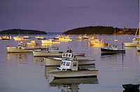 Boats docked in harbor, Maine, ME<br />