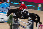 Rider Carlos Enrique Lopez Lazaro and his horse Cuplandra during Madrid Horse Week at Ifema in Madrid, Spain. November 26, 2017. (ALTERPHOTOS/Borja B.Hojas)