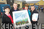 Pictured at the launch of the Kilflynn Chronicle Magazine and a charity auction on Friday were Eileen Rohan, Mike Parker, Bernie White and John O'Flaherty.