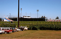 Ballparks: Nat Bailey Stadium, Vancouver, B.C. The view of the right field fence from Little Mountain approach.