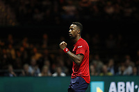 Rotterdam, The Netherlands, 14 Februari 2020, ABNAMRO World Tennis Tournament, Ahoy, <br /> Gaël Monfils (FRA) celebrates his win. <br /> Photo: www.tennisimages.com