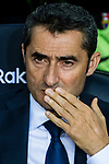 Coach Luis Ernesto Valverde Tejedor of FC Barcelona prior to the La Liga 2017-18 match between FC Barcelona and Malaga CF at Camp Nou on 21 October 2017 in Barcelona, Spain. Photo by Vicens Gimenez / Power Sport Images