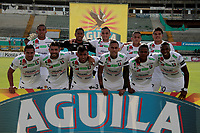 NEIVA - COLOMBIA, 31-10-2017: Jugadores del Once posan para una foto previo al partido entre Atlético Huila y Once Caldas por la fecha 18 de la Liga Águila II 2017 jugado en el estadio Guillermo Plazas Alcid de la ciudad de Neiva. / Players of Once pose to a photo prior the match between Atletico Huila and Once Caldas for the date 18 of the Aguila League II 2017 played at Guillermo Plazas Alcid in Neiva city. VizzorImage / Sergio Reyes / Cont