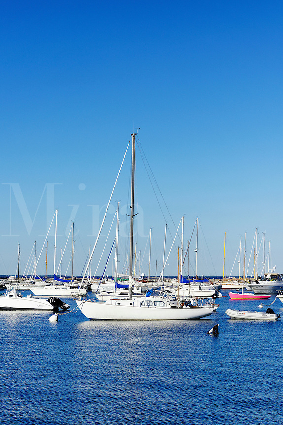 Sailboats in Vineyard Haven harbor, Martha's Vineyard, Massachusetts, USA