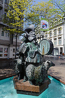 Brunnen in der Grand Rue, Stadt Luxemburg, Luxemburg