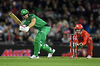 10th January 2020; Marvel Stadium, Melbourne, Victoria, Australia; Big Bash League Cricket, Melbourne Renegades versus Melbourne Stars; Hilton Cartwright of the Stars hits the ball - Editorial Use