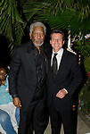 LAUREUS WORLD SPORTS AWARDS 2013, RIO DE JANEIRO, BRAZIL..AFTER PARTY AT THE COPACABANA PALACE HOTEL..MORGAN FREEMAN AND SEBASTIAN COE..11-3-2013 PIC BY IAN MCILGORM