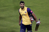 Ravi Bopara of Essex leaves the field with a smile having secured victory during Lancashire Lightning vs Essex Eagles, Vitality Blast T20 Cricket at the Emirates Riverside on 4th September 2019