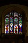 Saints Mathew, Mark, Luke and John stained glass window c 1892 Heaton, Butler and Bane, Ramsbury church, Wiltshire