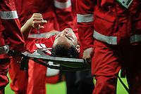 FUSSBALL   1. BUNDESLIGA   SAISON 2011/2012    12. SPIELTAG SV Werder Bremen - 1. FC Koeln                              05.11.2011 Ammar JEMAL (Koeln) wird verletzt vom Platz getragen