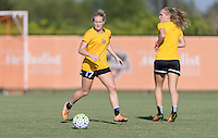 Houston, TX - Friday Oct. 07, 2016: Kristen Hamilton during training prior to the National Women's Soccer League (NWSL) Championship match between the Washington Spirit and the Western New York Flash at BBVA Compass Stadium.