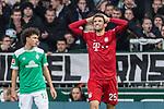 01.12.2018, Weserstadion, Bremen, GER, 1.FBL, Werder Bremen vs FC Bayern Muenchen<br /> <br /> DFL REGULATIONS PROHIBIT ANY USE OF PHOTOGRAPHS AS IMAGE SEQUENCES AND/OR QUASI-VIDEO.<br /> <br /> im Bild / picture shows<br /> Thomas M&uuml;ller / Mueller (FC Bayern Muenchen #25) &auml;rgert sich &uuml;ber vergebene Torchance, <br /> <br /> Foto &copy; nordphoto / Ewert