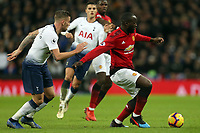 Anthony Martial of Manchester United and Toby Alderweireld of Tottenham Hotspur during Tottenham Hotspur vs Manchester United, Premier League Football at Wembley Stadium on 13th January 2019