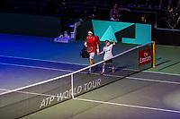 Rotterdam, Netherlands, 12 Februari, 2018, Ahoy, Tennis, ABNAMROWTT, Alexander Zverev (GER), David Ferrer (ESP)<br /> Photo:tennisimages.com