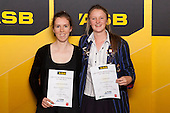 Girls Mountain Biking finalists Sophie-Maria Bethell and Samantha Lane. ASB College Sport Young Sportsperson of the Year Awards held at Eden Park, Auckland, on November 24th 2011.