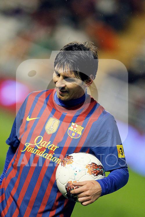 FC Barcelona's Leo Messi during La Liga match.April 29,2012. (ALTERPHOTOS/Acero)